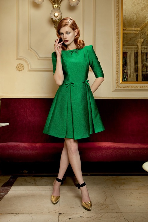 Vestido de cóctel verde Dolores Promesas