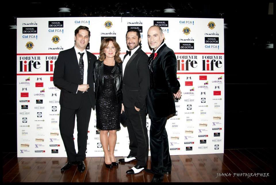 Borja Elorza, Patricia Gaztañaga, Rafael Amargo y Manuel de Gotor