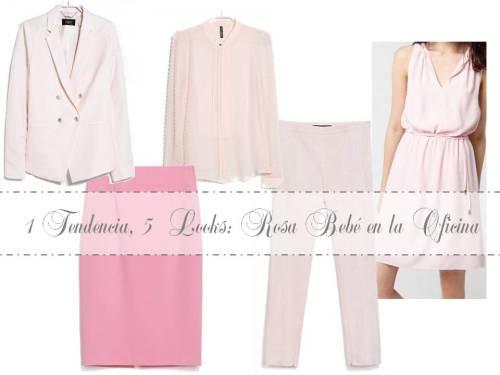 Cómo vestir de rosa en la oficina de lunes a viernes
