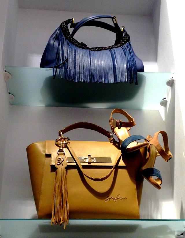 BH - Bolso azul y beige