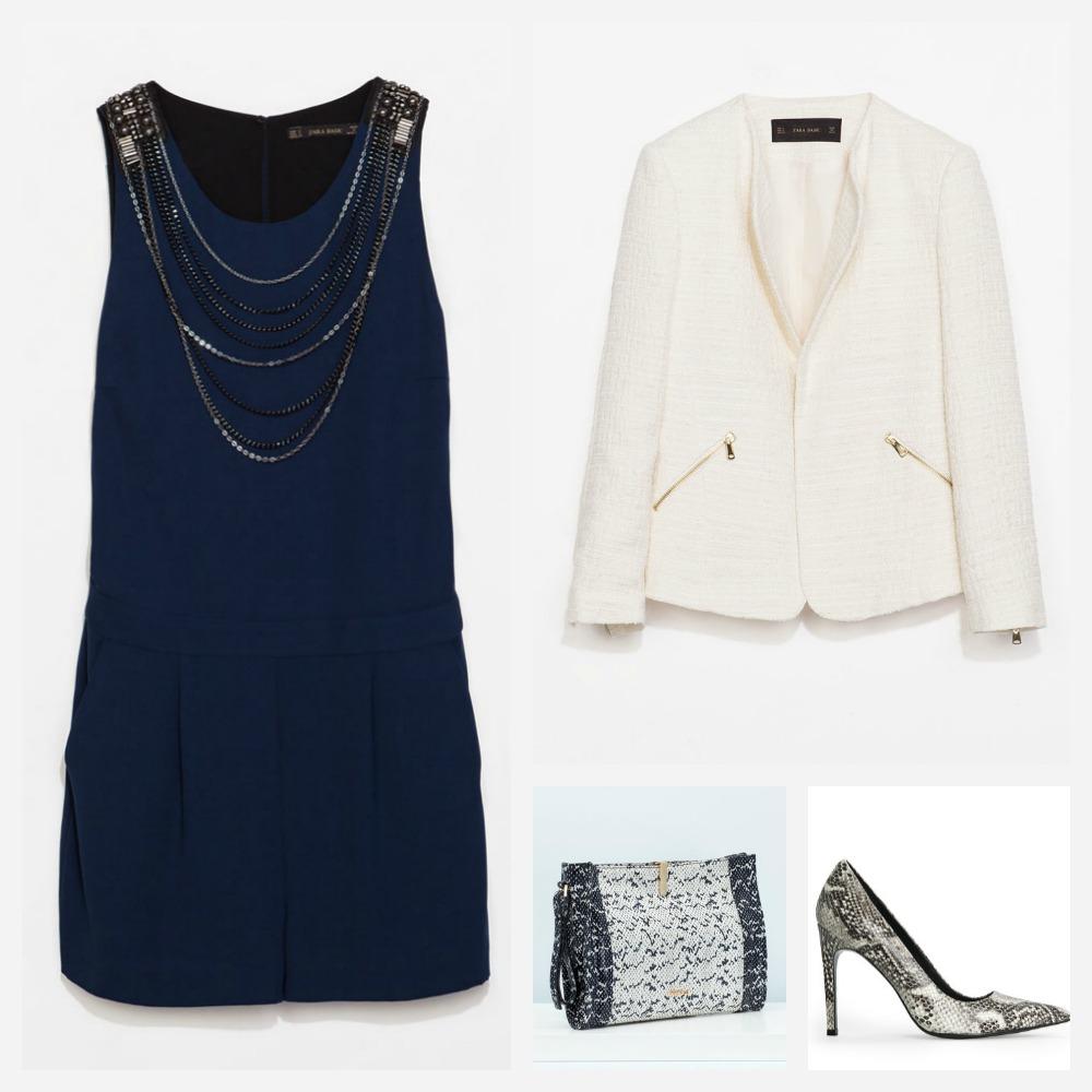 Con que chaqueta combinar un vestido azul marino