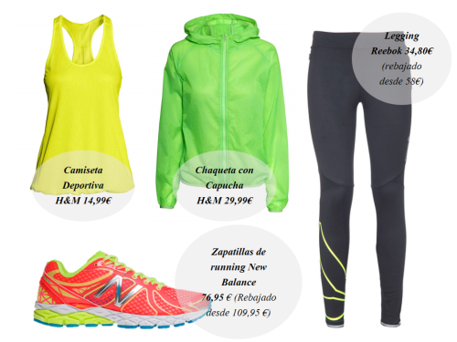 Look Running deporte sport zapatillas New Balance Camiseta Roxy Nike Adidas Colores Acidos Shorts