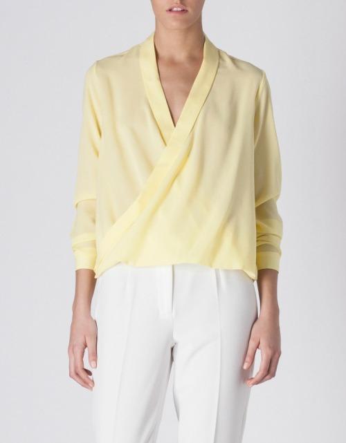 Blusa Amarilla Suite Blanco