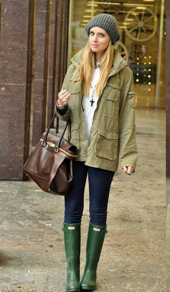 Chiara Ferragni the blonde salade green hunter verdes