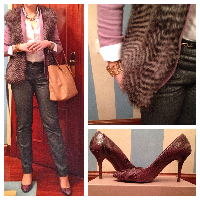 Cómo combinar un pantalón de traje inspiración oficina working look entrevista pantalón de pinzas