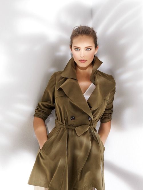 Trench Khaki Suite Blanco