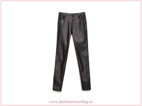 Como combinar leggings negros de cuero pantalones de polipiel zara