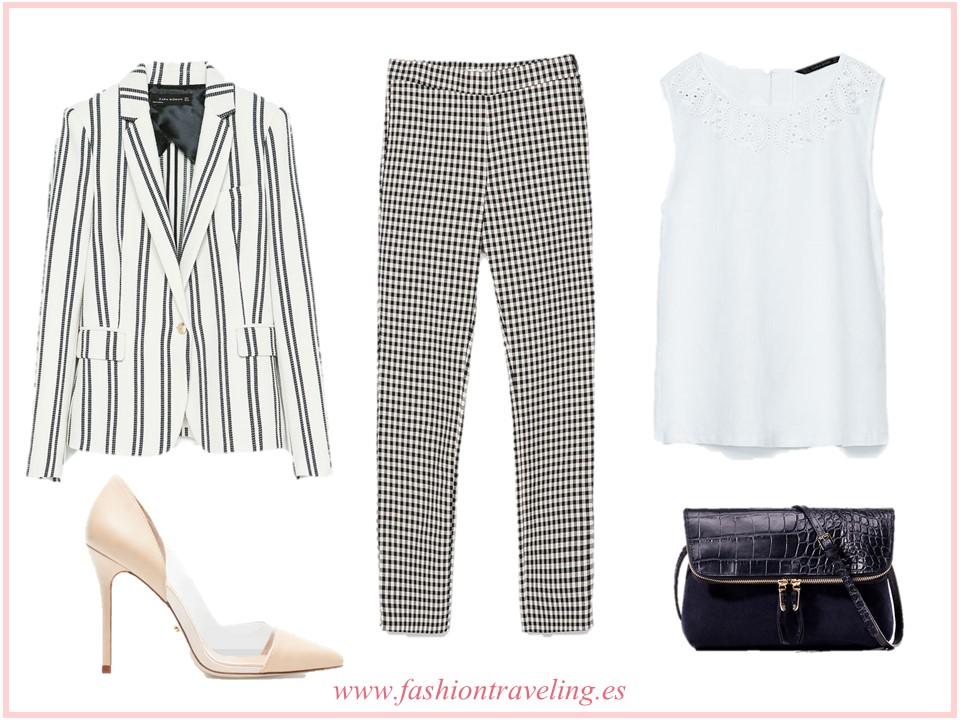 C mo combinar un pantal n de cuadros vichy fashion traveling - Como hacer color gris ...