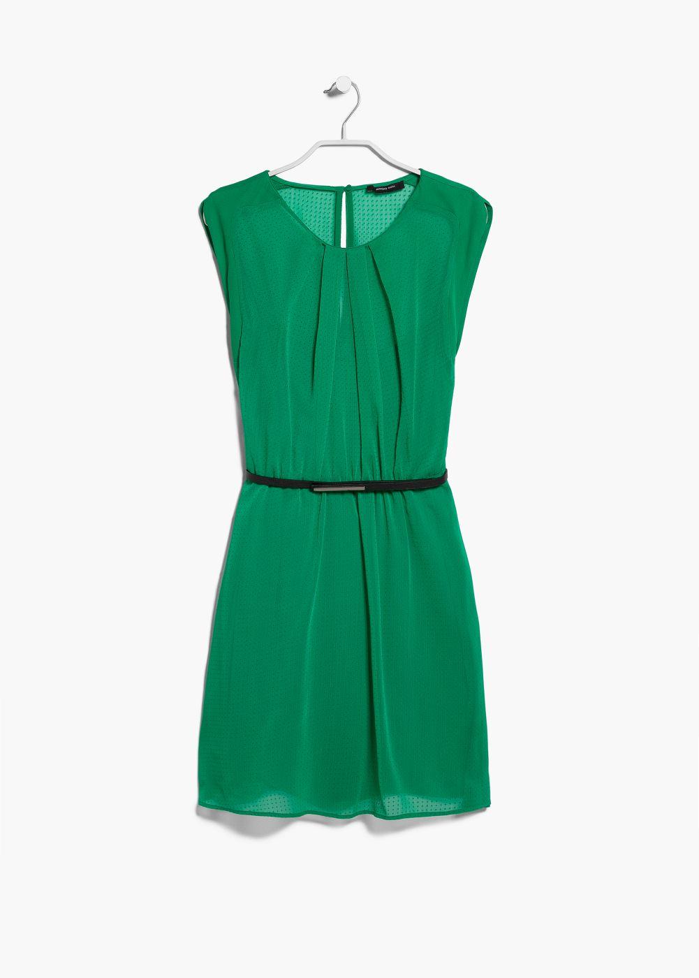 Vestido verde mango 2015